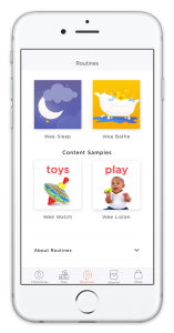 WeeSchool App Routines transparent